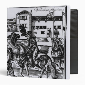 Francisco Alvarez on horseback Vinyl Binder
