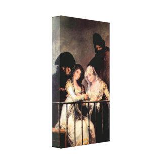 Francisco de Goya - Majas on a Balcony Stretched Canvas Print