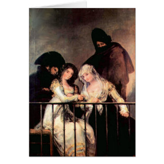 Francisco de Goya - Majas on a Balcony Card