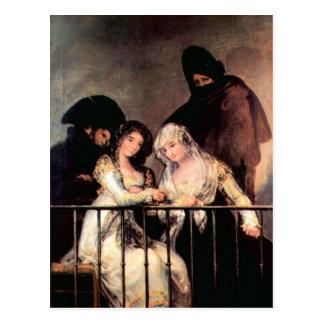 Francisco de Goya - Majas on a Balcony Postcards