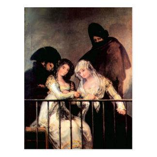 Francisco de Goya - Majas on a Balcony Postcard