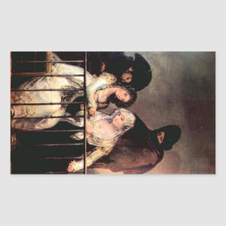 Francisco de Goya - Majas on a Balcony Rectangle Stickers