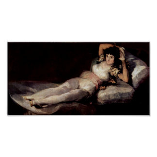 Francisco de Goya - The dressed Maja Poster