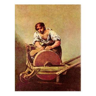 Francisco de Goya - The grinder Postcard