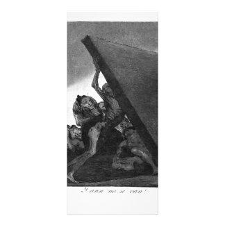 Francisco Goya- And they still won t go Rack Card Design