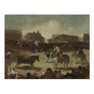 Francisco Goya - Bullfight in a Village Postcard
