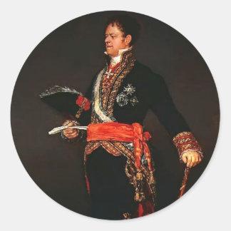 Francisco Goya- Duke of San Carlos Classic Round Sticker