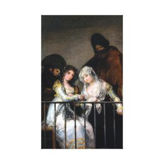 Francisco Goya Majas on a Balcony Canvas Print