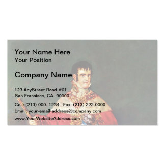 Francisco Goya- Portrait of Ferdinand VII Business Card Templates