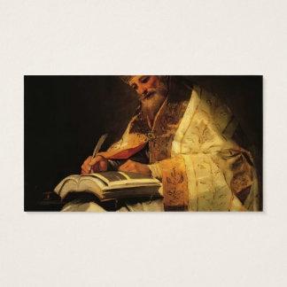 Francisco Goya- Saint Gregory Business Card