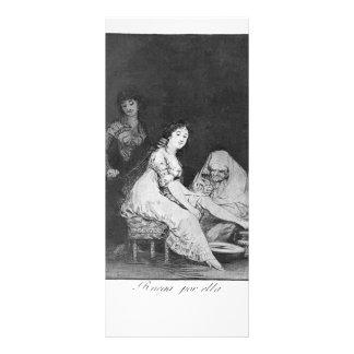 Francisco Goya- She prays for her Custom Rack Card