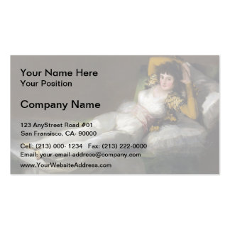 Francisco Goya- The Clothed Maja Pack Of Standard Business Cards
