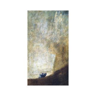 Francisco Goya The Dog Canvas Print