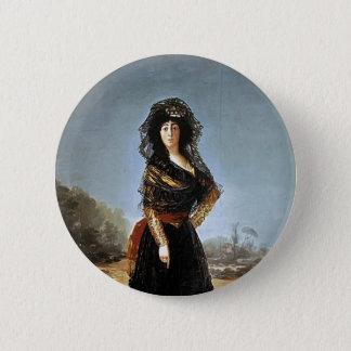 Francisco Goya- The Duchess of Alba 2 Inch Round Button