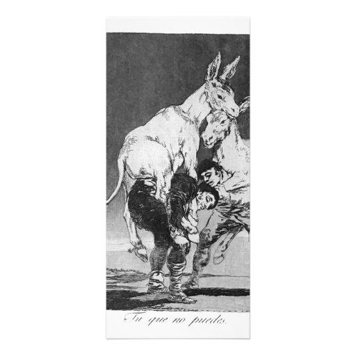 Francisco Goya- They who Cannot Custom Rack Card
