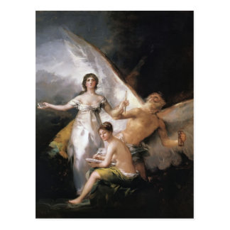 Francisco Goya- Truth Rescued by Time, Witnessed Post Cards