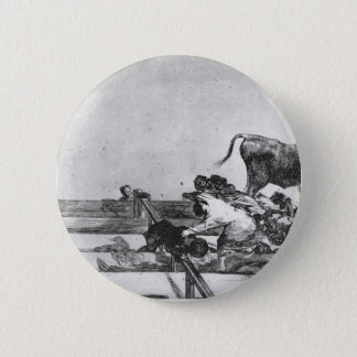 Francisco Goya-Unfortunate Event in Ring of Madrid 2 Inch Round Button