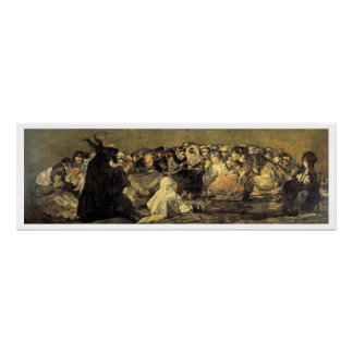 Francisco Goya's Witches Sabbath Poster