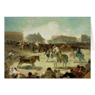 Francisco Jose de Goya | A Village Bullfight Card