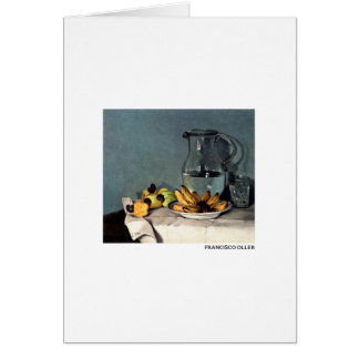 Francisco Oller Still Life Bananas, Pitcher Card