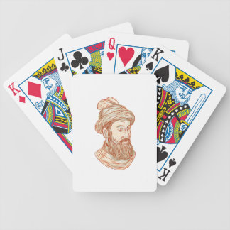 Francisco Pizarro Drawing Bicycle Playing Cards