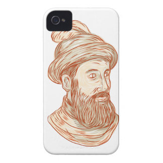 Francisco Pizarro Drawing iPhone 4 Case-Mate Cases