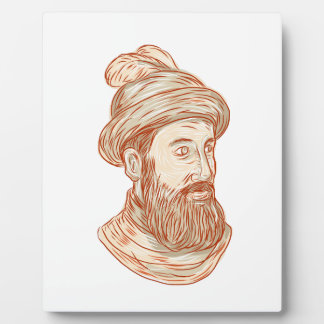 Francisco Pizarro Drawing Plaque