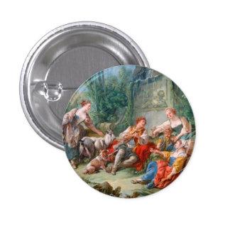 francois boucher shepherd s idyll rococo scenery pinback button