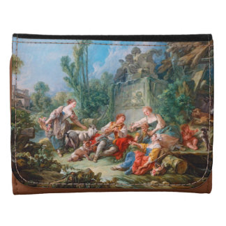 francois boucher shepherd's idyll rococo scenery wallet