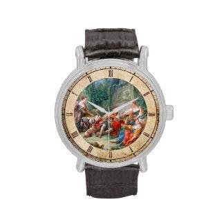 francois boucher shepherd's idyll rococo scenery wristwatch