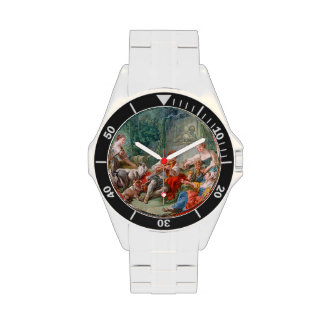 francois boucher shepherd's idyll rococo scenery wristwatches