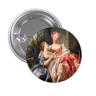 Francois Boucher The Billet Dou rococo ladies art Pinback Buttons