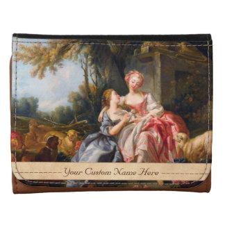 Francois Boucher The Billet Dou rococo ladies art Wallets