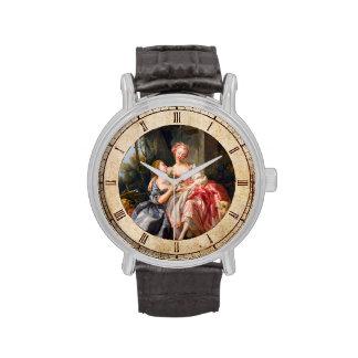Francois Boucher The Billet Dou rococo ladies art Wristwatches