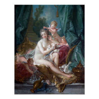 François Boucher The Toilette of Venus Poster
