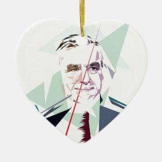 Francois Fillon after Pénélope Spoils Ceramic Heart Ornament