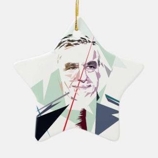 Francois Fillon after Pénélope Spoils Ceramic Star Ornament