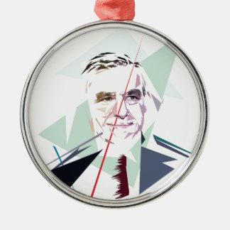 Francois Fillon after Pénélope Spoils Silver-Colored Round Ornament