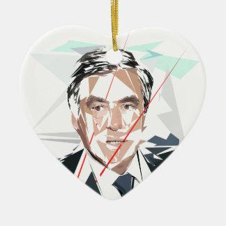 Francois Fillon before Pénélope Spoils Ceramic Heart Ornament