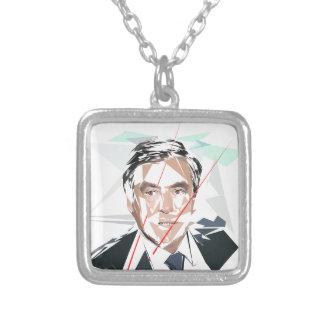 Francois Fillon before Pénélope Spoils Silver Plated Necklace