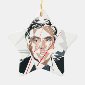 Francois Fillon before pénéloppe spoils Ceramic Star Ornament
