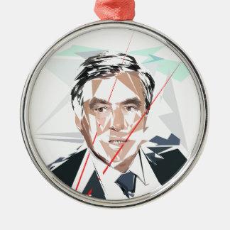 Francois Fillon before pénéloppe spoils Silver-Colored Round Ornament