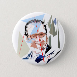 François Hollande 2 Inch Round Button