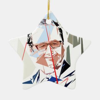 François Hollande Ceramic Ornament