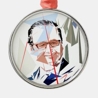 François Hollande Metal Ornament