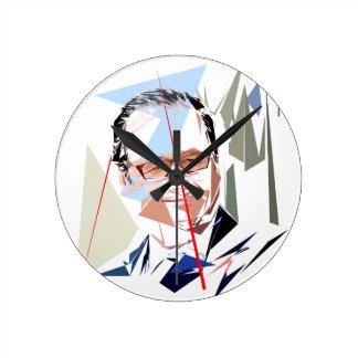 François Hollande Round Clock