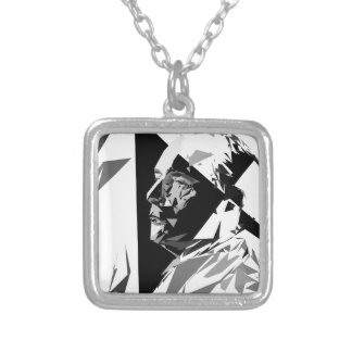 François Mitterrand Silver Plated Necklace