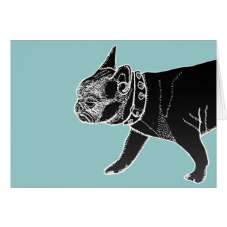 Francois the French Bulldog Card