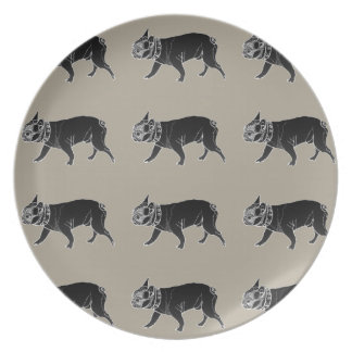 Francois the French Bulldog Plate