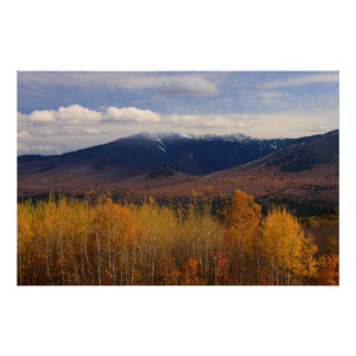 Franconia Ridge Foliage and Snow Poster